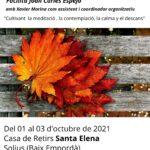 Retiir Mindfulnesss Girona tardor 2021